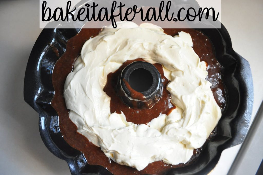 cherry chocolate cheesecake bundt cake