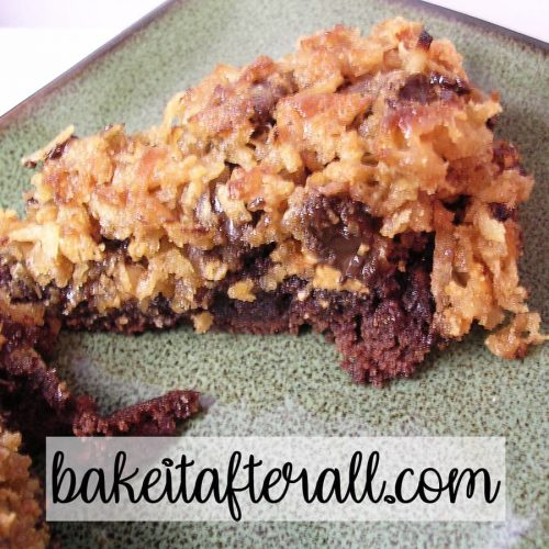 coconut butterscotch chip brownies magic bar