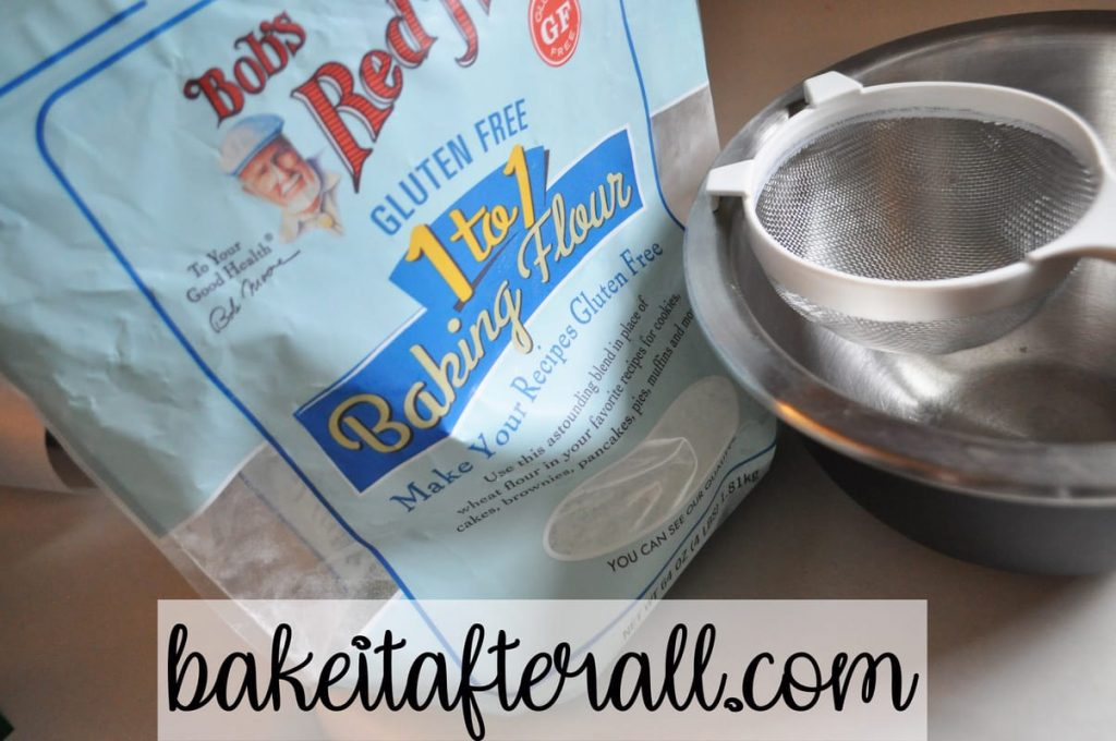Bob's red mill gluten free 1 to 1 baking flour bag