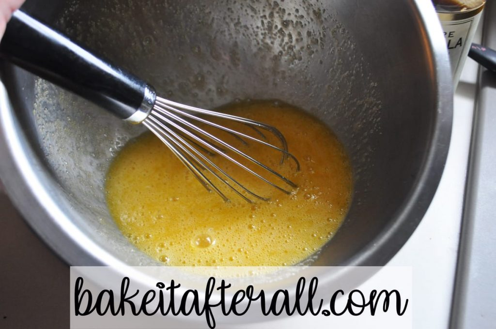 whisked egg mixture