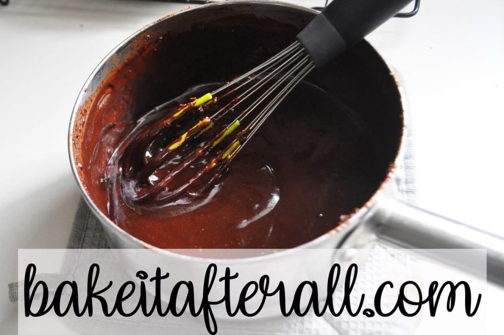whisking hot fudge