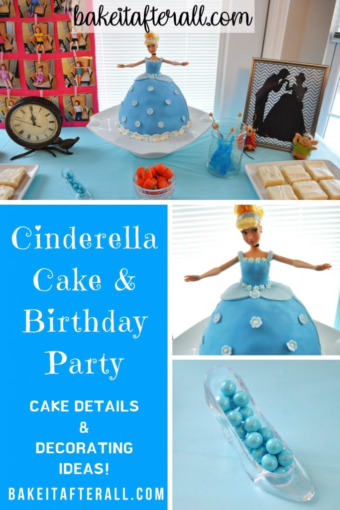 Cinderella Cake and Birthday Party Pin