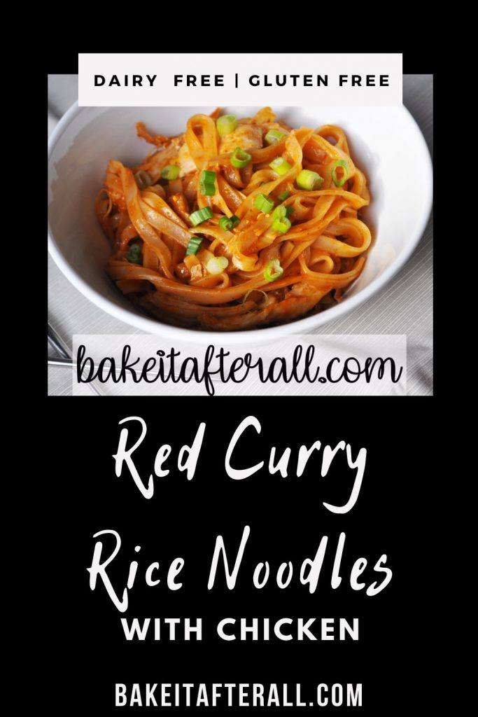 red curry rice noodles with chicken