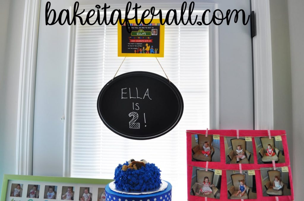 Sesame Street Birthday Party chalkboard sign