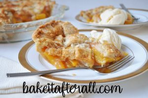 homemade fresh peach pie