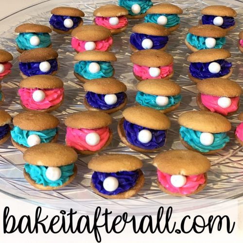 seashell cookies / oyster shell cookies