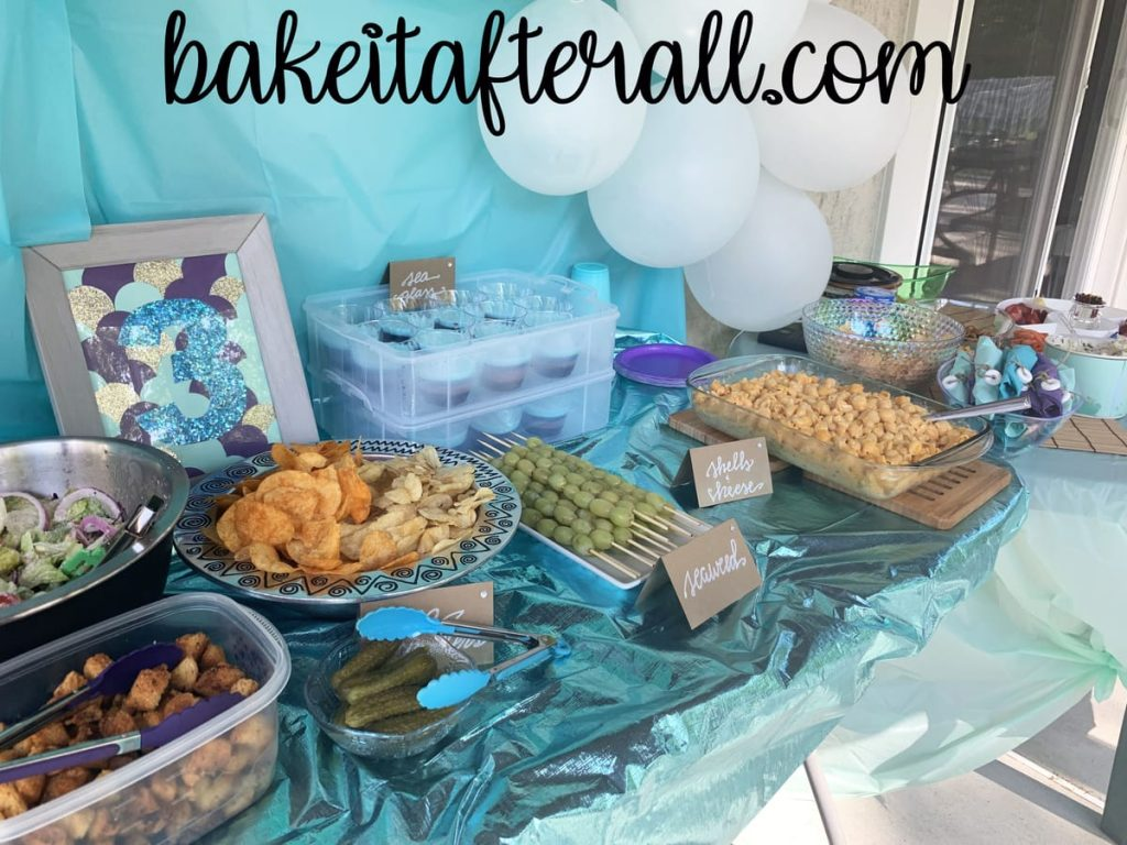 under the sea birthday party food table