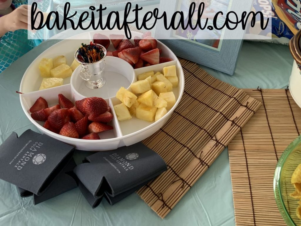 fruit platter on a table