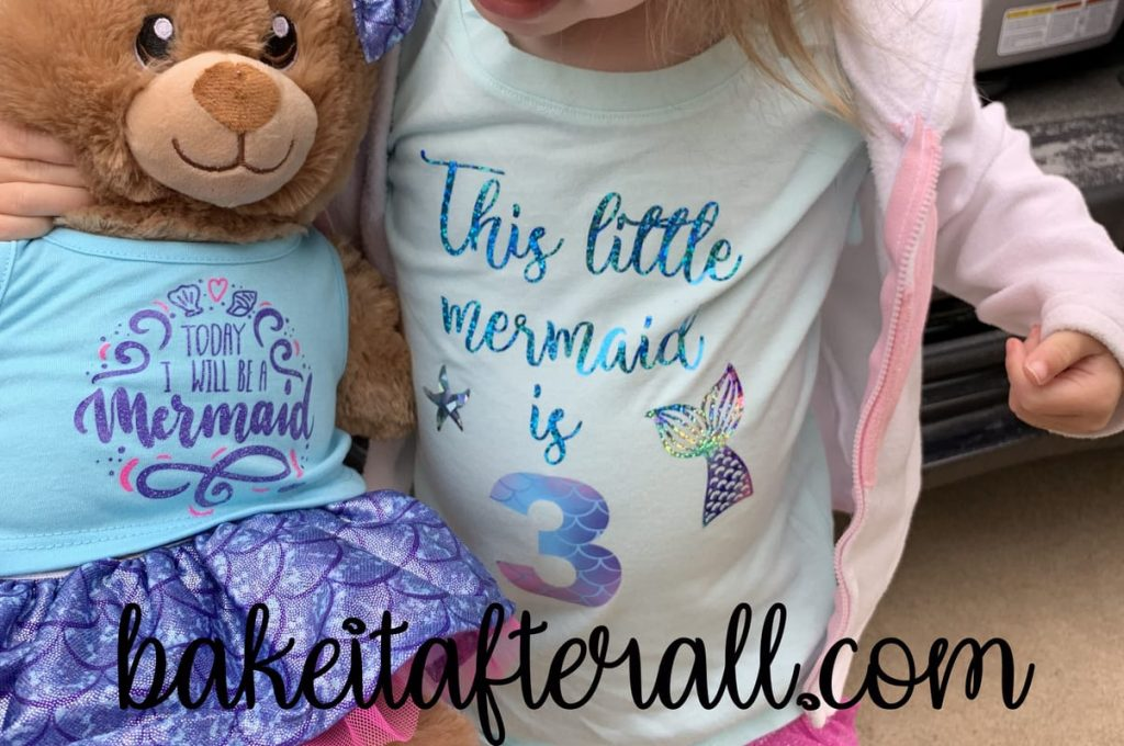 This Little Mermaid is 3 t shirt and build a bear
