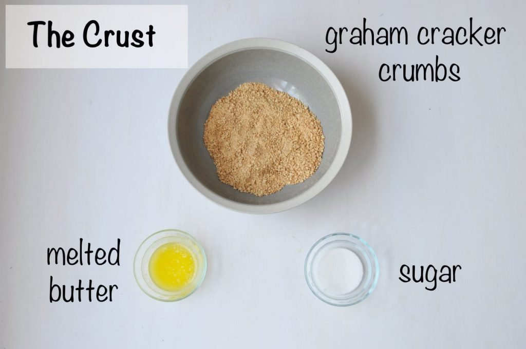 crust ingredients laid out and labeled