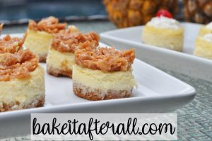 mini pina colada cheesecakes
