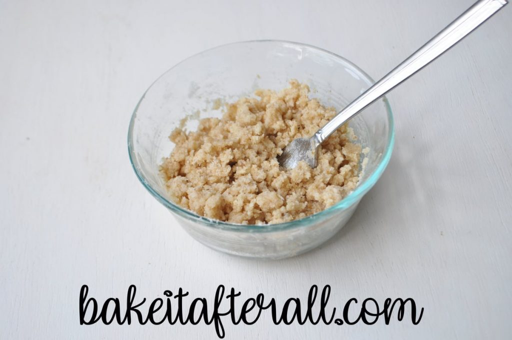 streusel topping in a bowl