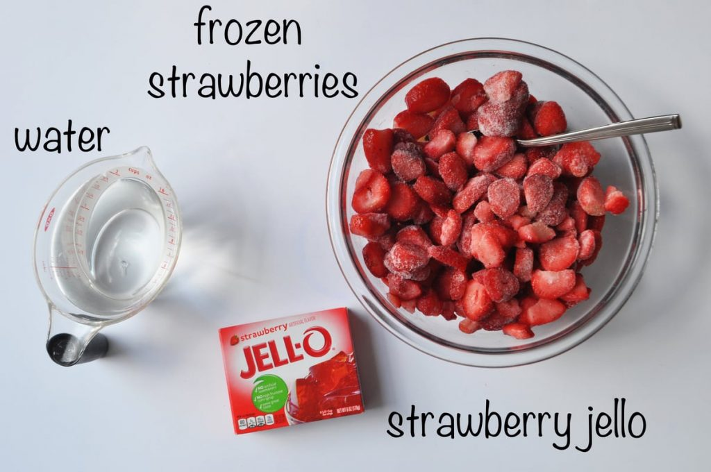 strawberry jello layer ingredients