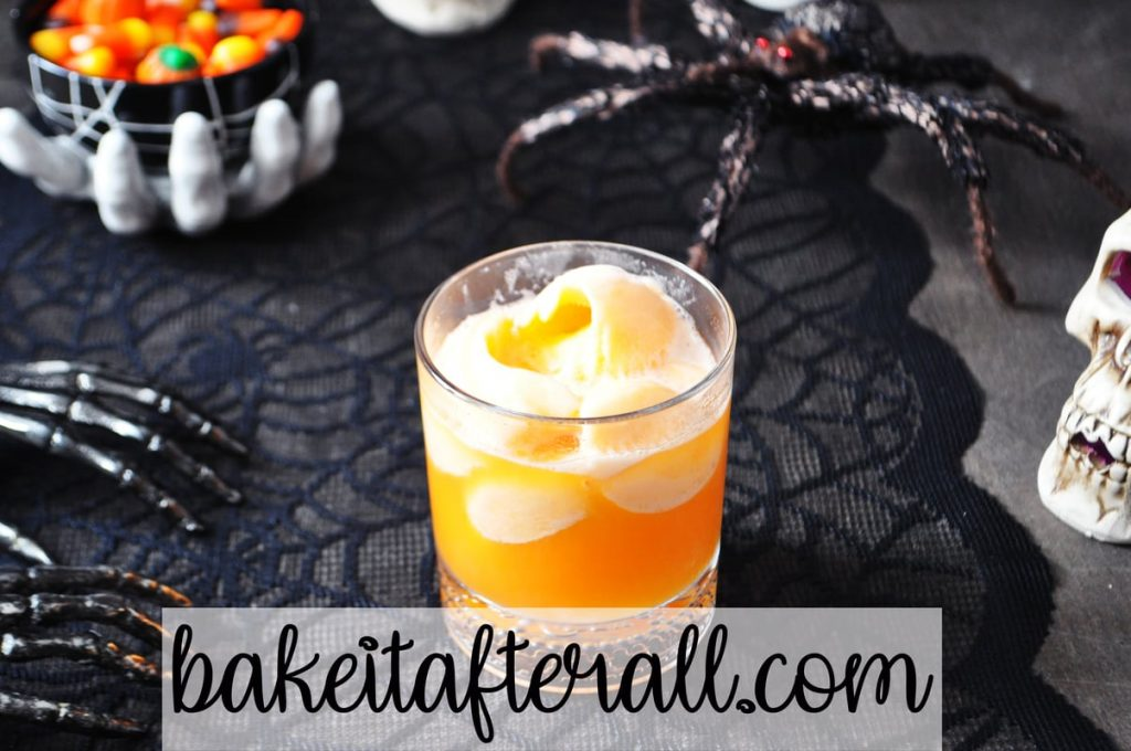 witches brew punch in a glass cup