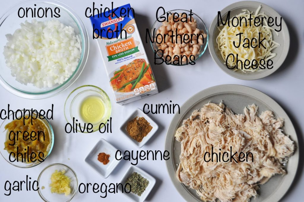 low carb white chicken chili ingredients
