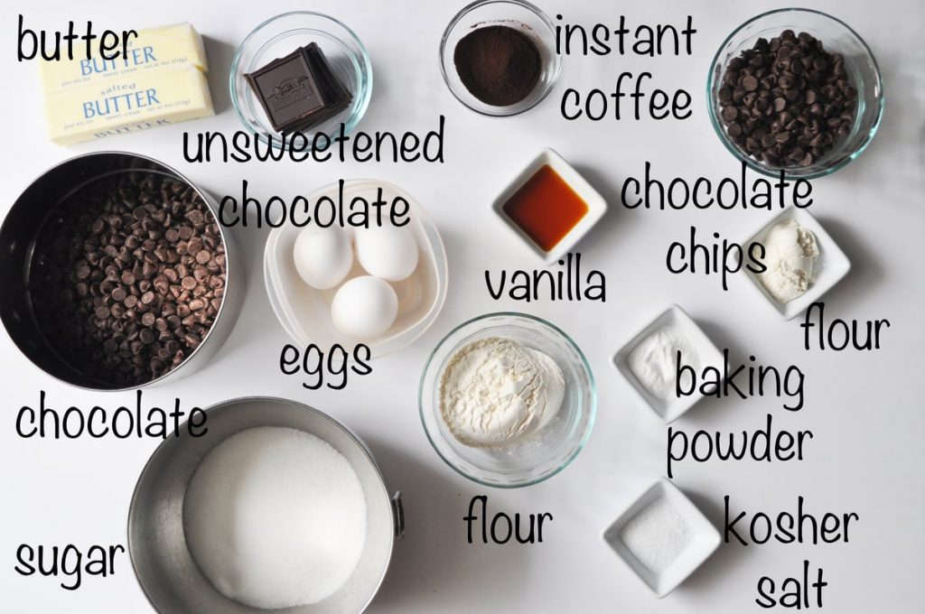 outrageous brownies ingredients