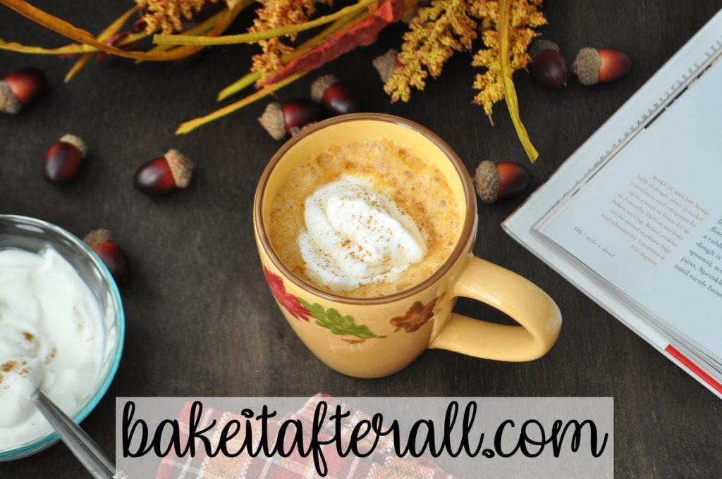 pumpkin latte with whipped cream on top