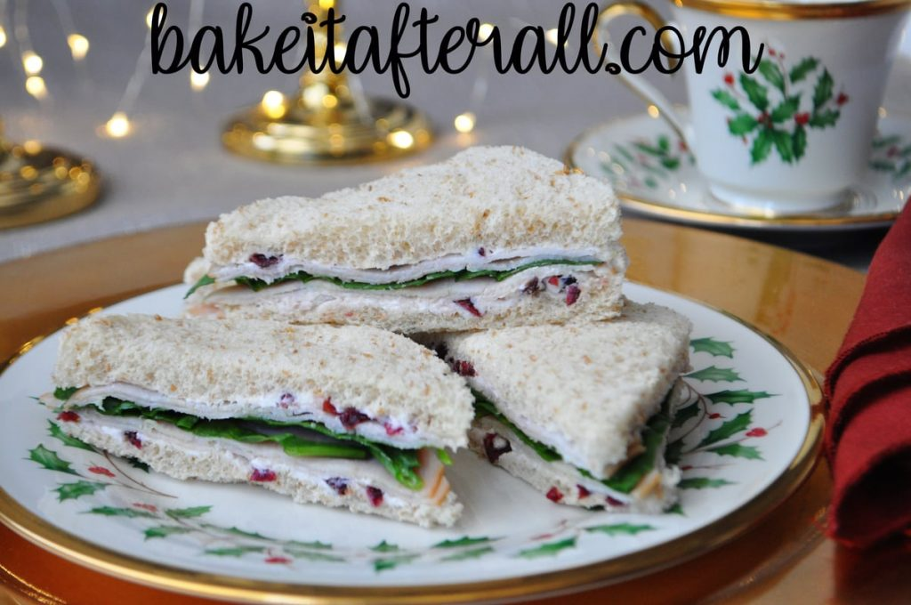 Turkey and Cranberry Tea Party Sandwiches