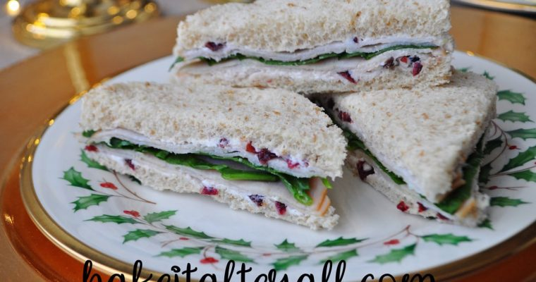 Turkey Cranberry Tea Party Sandwiches