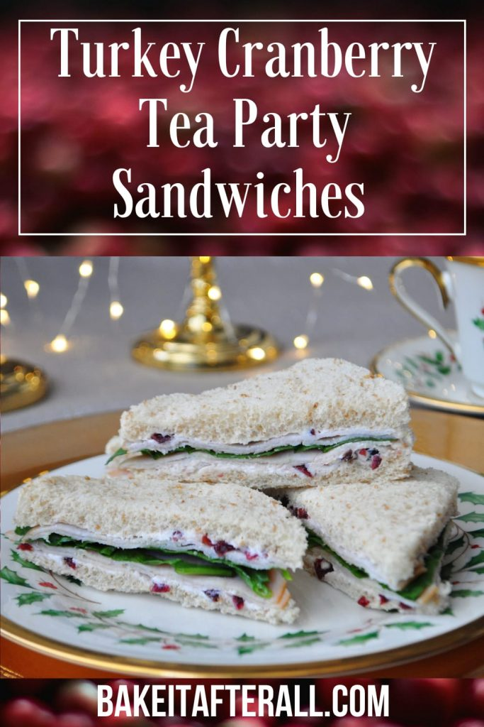 Turkey and Cranberry Tea Party Sandwiches Pin