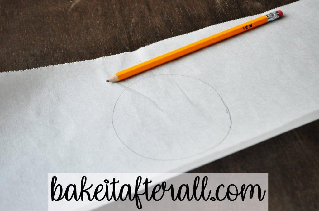 pencil circle on parchment paper