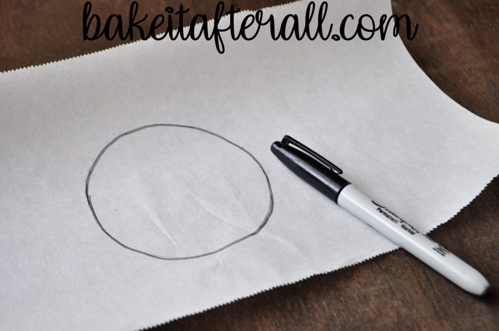 permanent marker circle on parchment paper