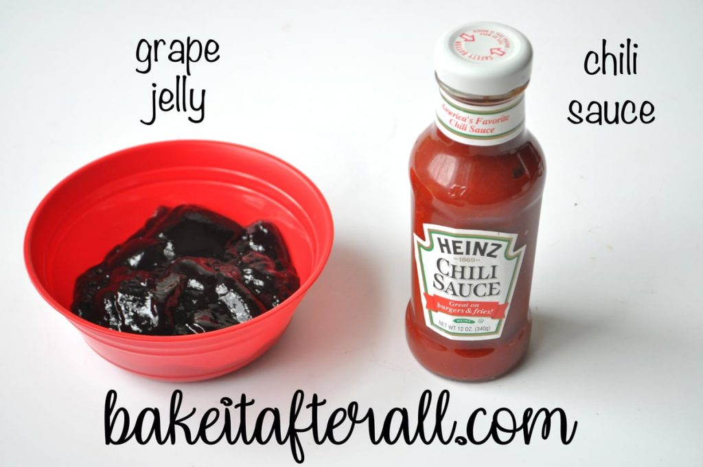grape jelly and chili sauce