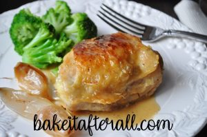 Roasted Chicken with Garlic Pan Sauce
