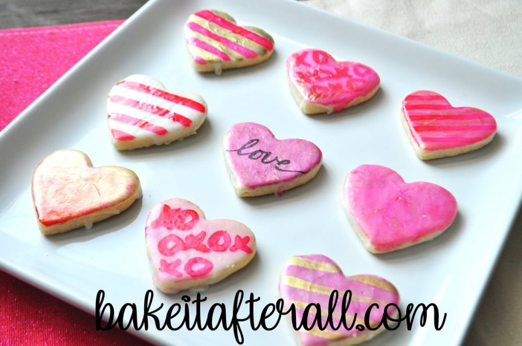 Painted Watercolor Cookies which can be done on royal icing