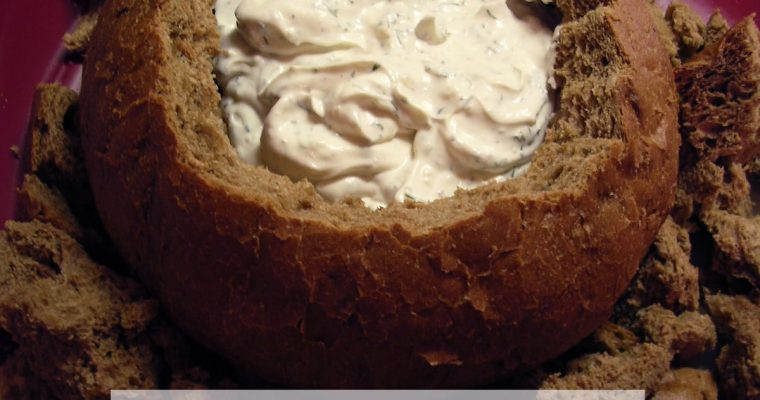 Dill Dip in Rye Bread Bowl