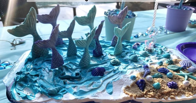 Mermaid Ice Cream Birthday Cake