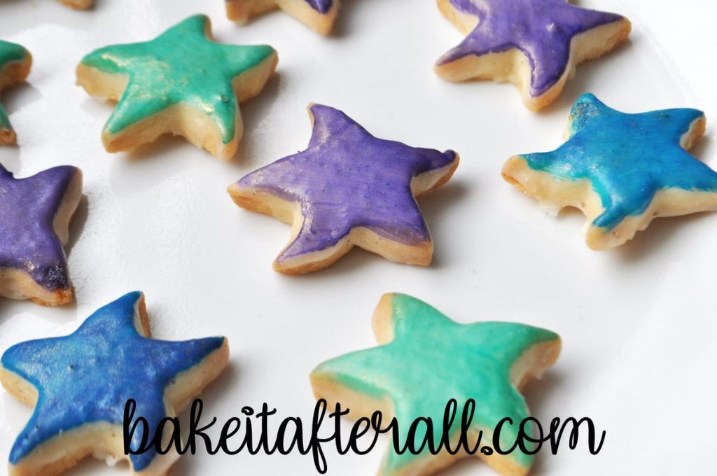 Starfish Cookies on a white plate