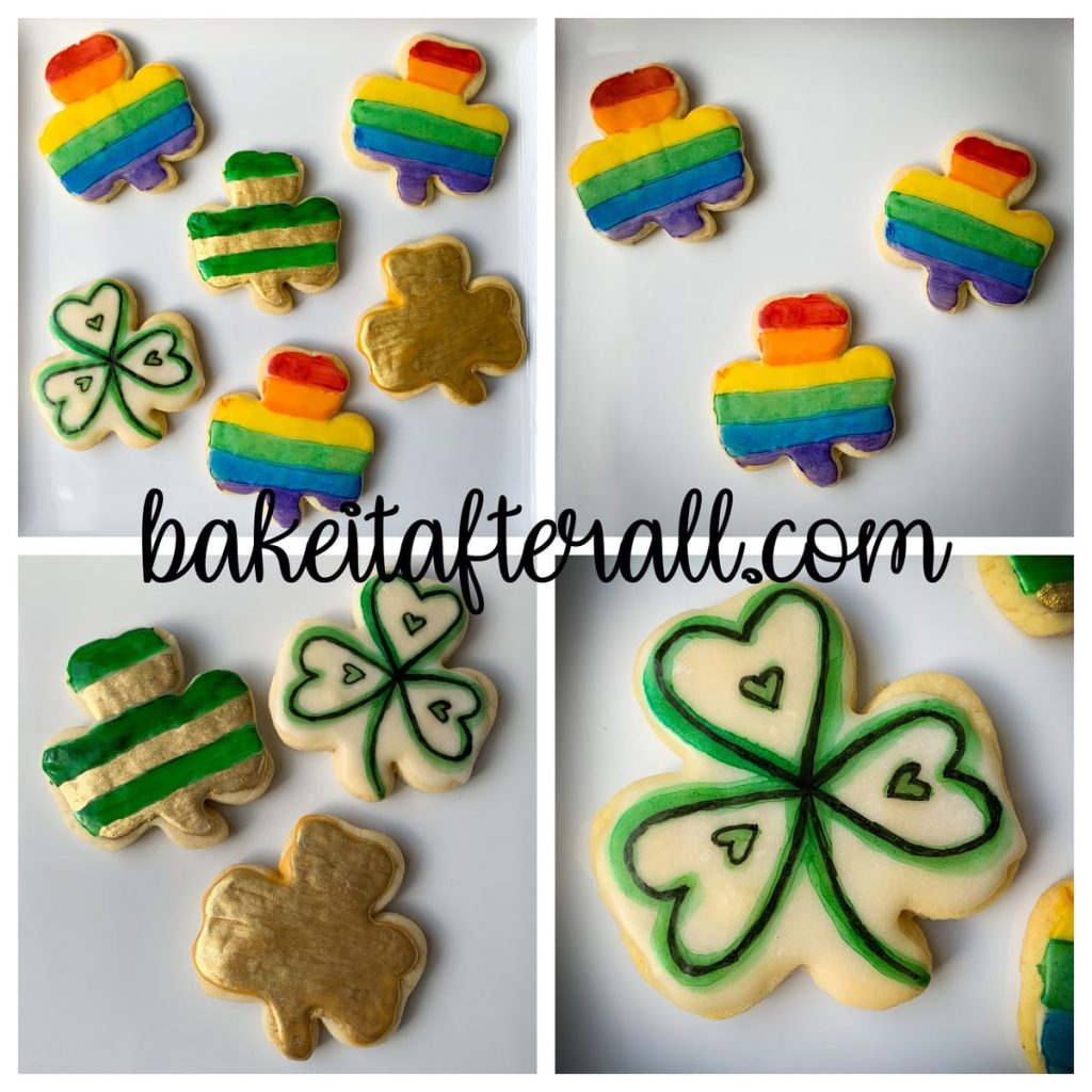 Painted Rainbow Cookies Collage