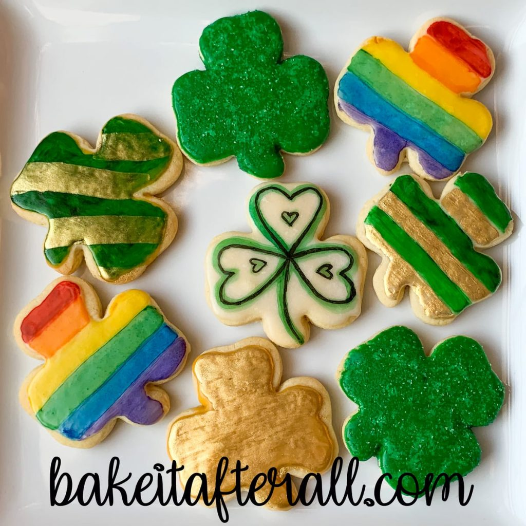 Painted Rainbow Cookies Shamrock collage