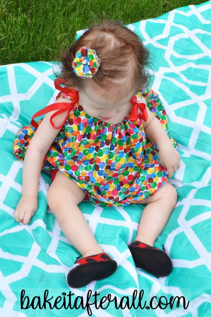 Very Hungry Caterpillar Pillowcase Dress for a baby