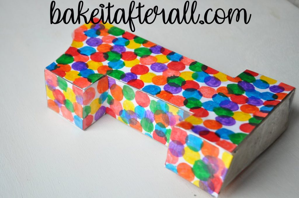 cardboard 1 with dots of color
