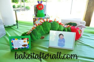 Very Hungry Caterpillar Birthday Party Ideas stuffed very hungry caterpillar and jack n the box