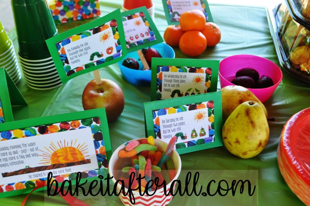 fruits from the Very Hungry Caterpillar