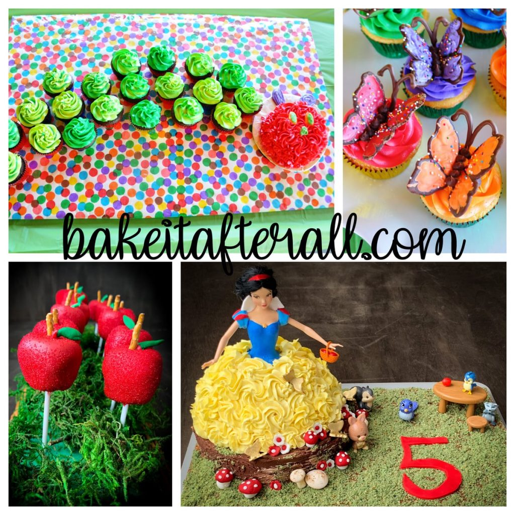 Cake Decorating Collage of Easy Vanilla Buttercream cakes and cake pops