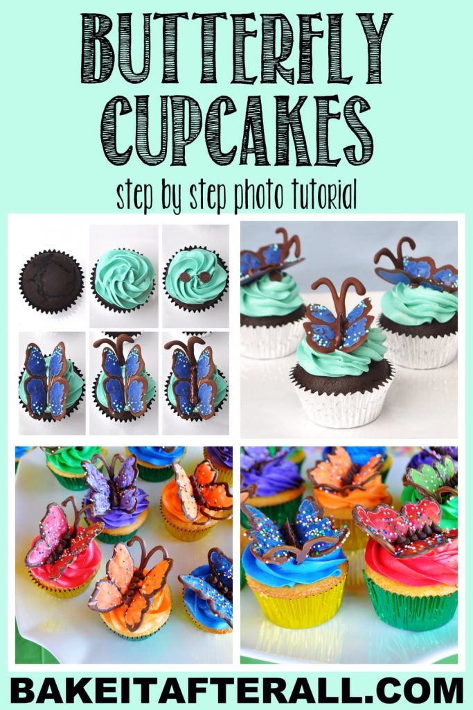 Butterfly Cupcake Pin